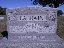 Mahala Elizabeth <i>McConnell</i> Baldwin