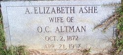 A Elizabeth <i>Ashe</i> Altman