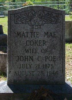 Mattie Mae <i>Coker</i> Poe