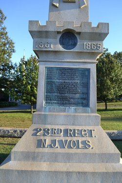 23rd New Jersey Infantry Monument