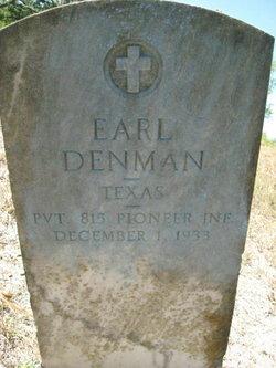 Pvt Earl Denman