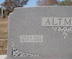Thula <i>Cole</i> Altman