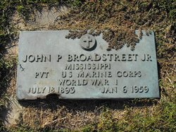Pvt John P Broadstreet, Jr