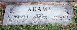 Rev Hobart Thomas Adams