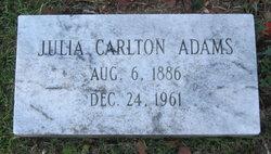 Julia Carlton Adams