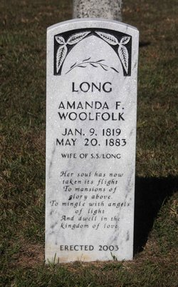 Amanda F. <i>Woolfolk</i> Long