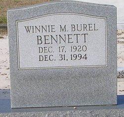 Winnie M. <i>Burel</i> Bennett