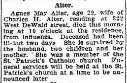 Agnes May <i>DeGrattery</i> Alter