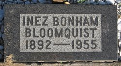 Inez <i>Bonham</i> Bloomquist