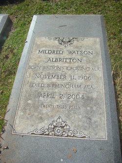 Mildred <i>Watson</i> Albritton