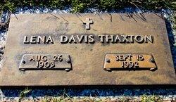 Lena <i>Davis</i> Thaxton