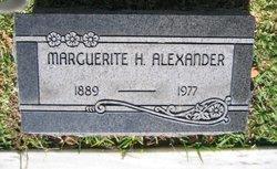 Marguerite H Alexander