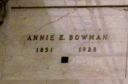 Annie E Bowman