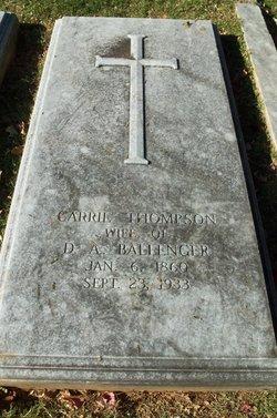 Carrie <i>Thompson</i> Ballenger
