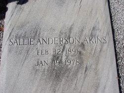Sallie <i>Anderson</i> Akins