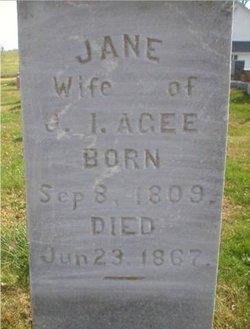 Jane <i>Ogle</i> Agee