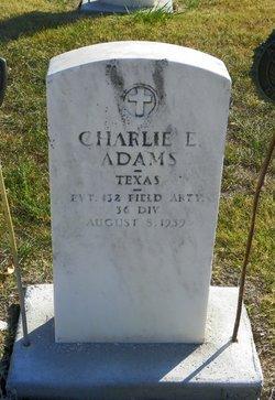Charlie E Adams