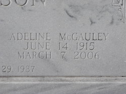 Adeline <i>McGauley</i> Anderson