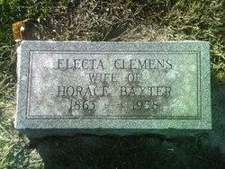 Electa Belle <i>Clemens</i> Baxter