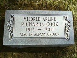 Mildred Arline <i>Richards</i> Cook