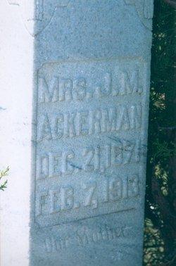 Margaret Miller <i>Etchison</i> Ackerman