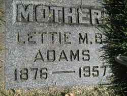 Lettie May <i>Bennett</i> Adams