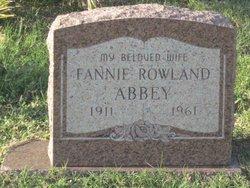 Fannie Catherine <i>Rowland</i> Abbey