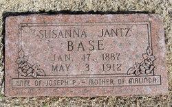 Susanna <i>Jantz</i> Base