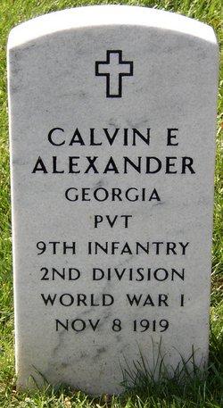 PVT Calvin E Alexander