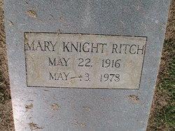 Mary Annie <i>Knight</i> Ritch