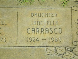 Jane Ella <i>Blythe</i> Carrasco