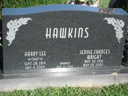 Jennie Frances <i>Wright</i> Hawkins