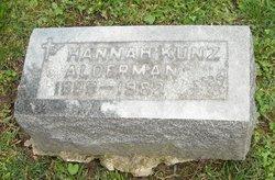 Hannah <i>Kunz</i> Alderman