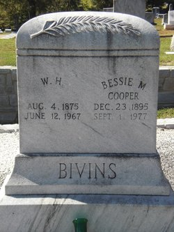 Bessie M <i>Cooper</i> Bivins