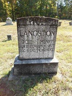 Isophene F. Icie <i>Vowell</i> Langston