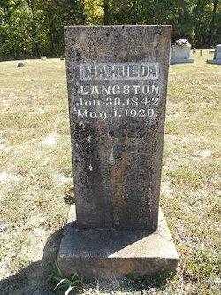 Mary Mahulda <i>Pearson</i> Langston