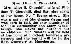Alice S. <i>Woodbridge</i> Churchill