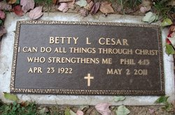 Betty Lou <i>Milbrant</i> Cesar
