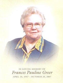 Frances Pauline <i>Jones</i> Greer