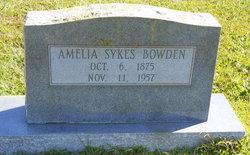 Amelia <i>Sykes</i> Bowden