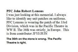 PFC John Robert Lemons