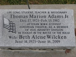 Beth Alene <i>Wilcken</i> Adams