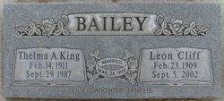 Thelma Arlene <i>King</i> Bailey