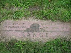 Bertha M <i>Uhlman</i> Lange