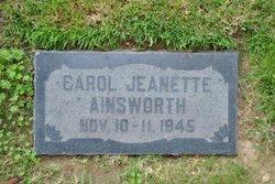 Carol Jeanette Ainsworth