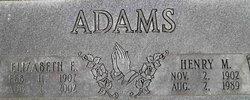 Elizabeth E. <i>Lewis</i> Adams