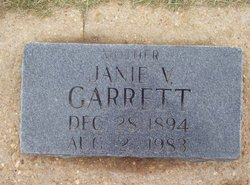 M. Jane Janie <i>Vail</i> Garrett
