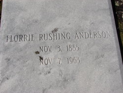 Florrie <i>Rushing</i> Anderson