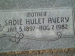 Sadie <i>Hulet</i> Avery