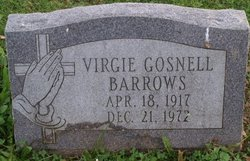 Virgie <i>Gosnell</i> Barrows